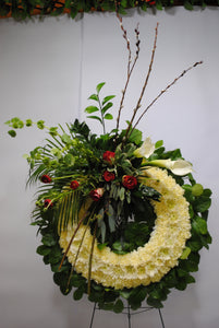 White & Red Serenity Wreath