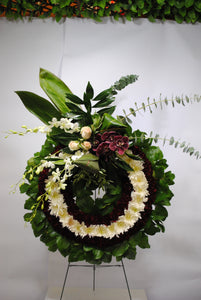 White Purple & Green Serenity Wreath