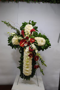 White Peace Cross Serenity Wreath