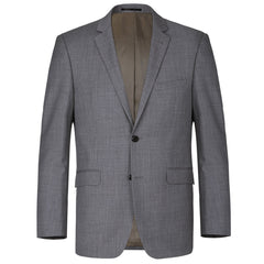 """World Traveler"" 100% Wool - Charcoal Grey Suit"
