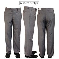 """World Traveler"" 100% Wool - Light Grey Pants"