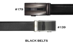 Black Ratchet Belts