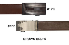 Brown Ratchet Belts