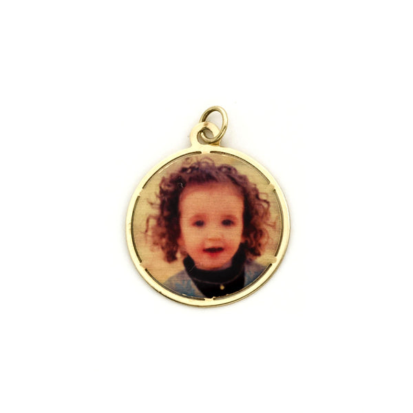 PIKE ROUND PHOTO CHARM-LOOSE
