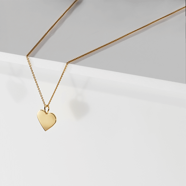 CHARMING- LILY SOLID HEART PENDANT