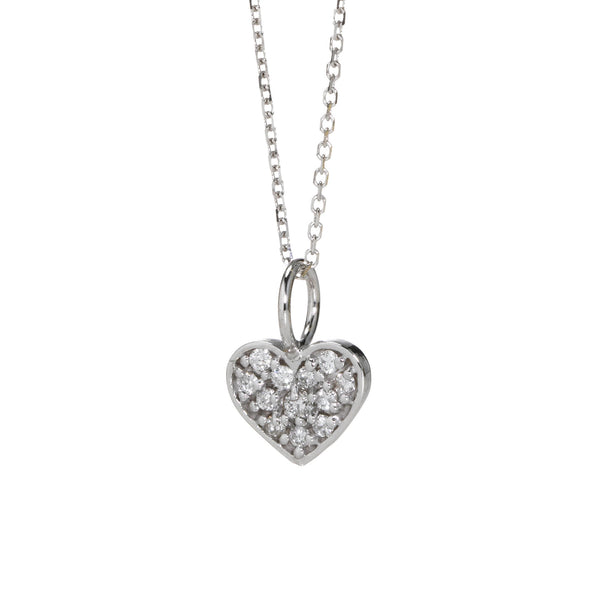 LILY DIAMOND HEART PENDANT
