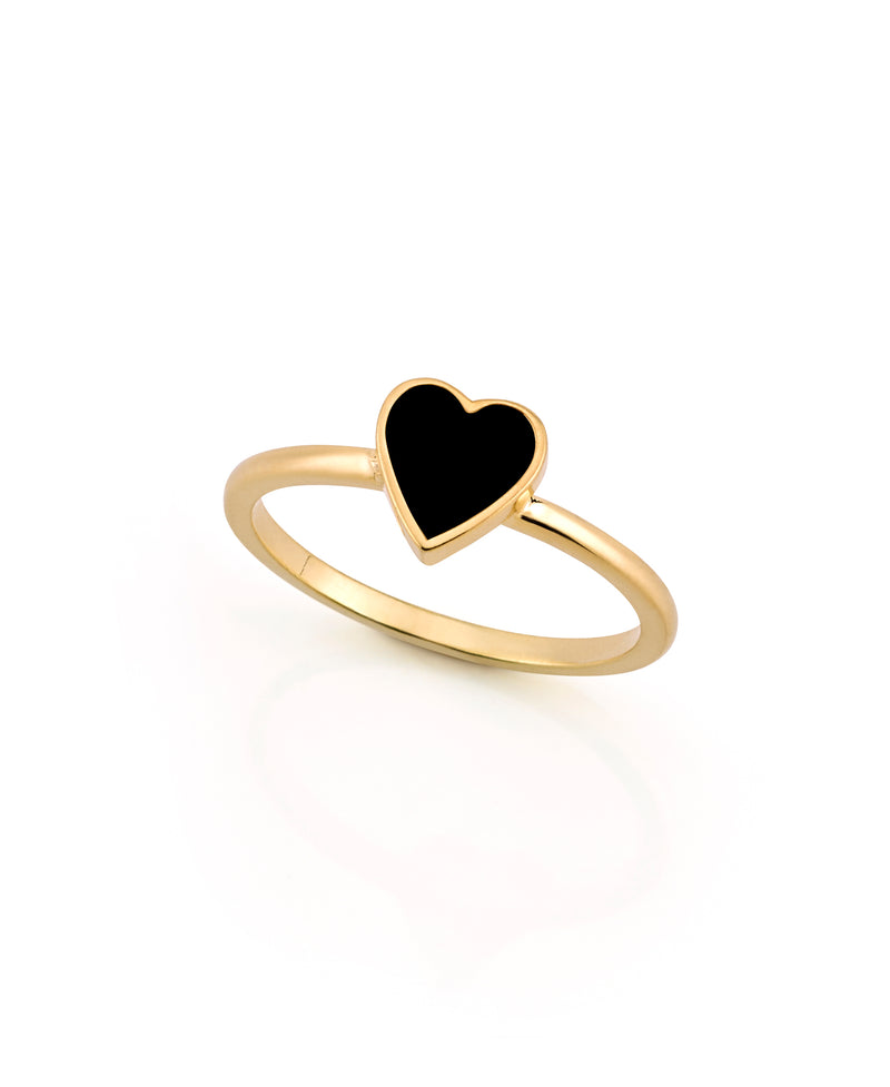 LOVE COUNT ® ENAMEL STACKABLE RING-BLACK