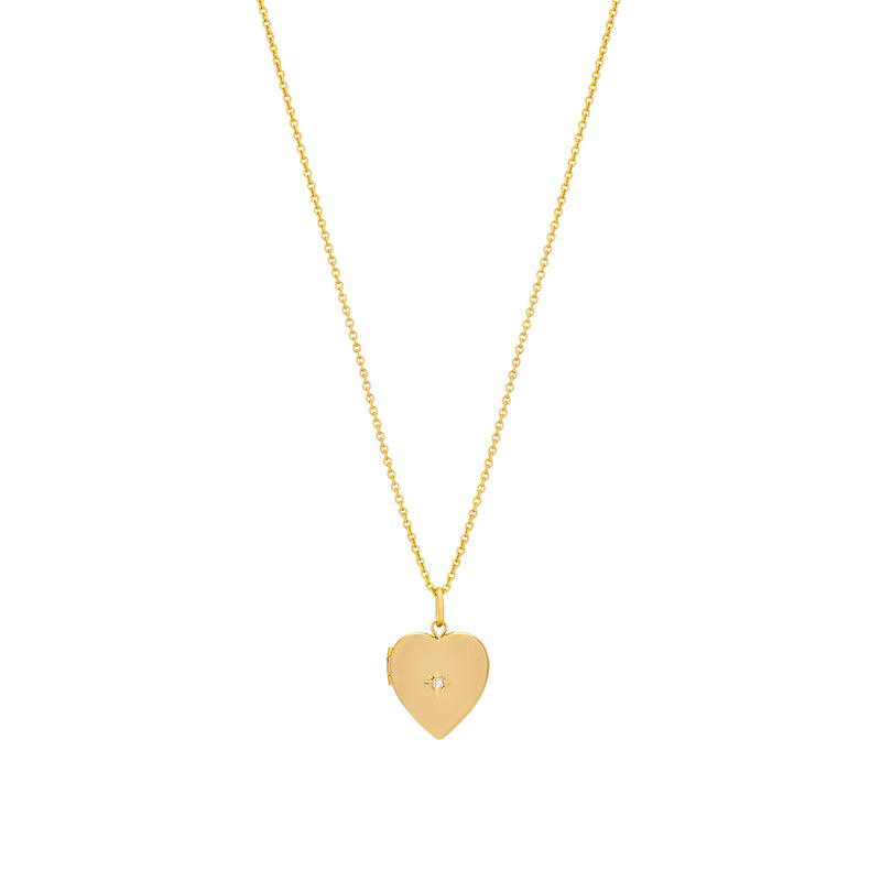 CHARLI HEART LOCKET WITH DIAMOND ACCENT