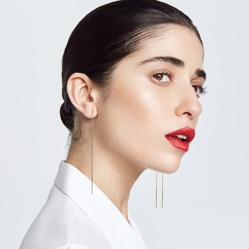KARLA THREADED WIRE EARRINGS