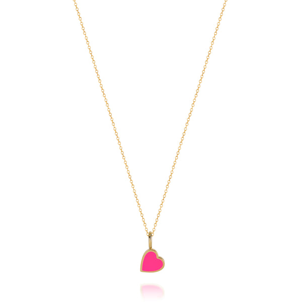 LOVE COUNT ® ENAMEL HEART PENDANT- PINK
