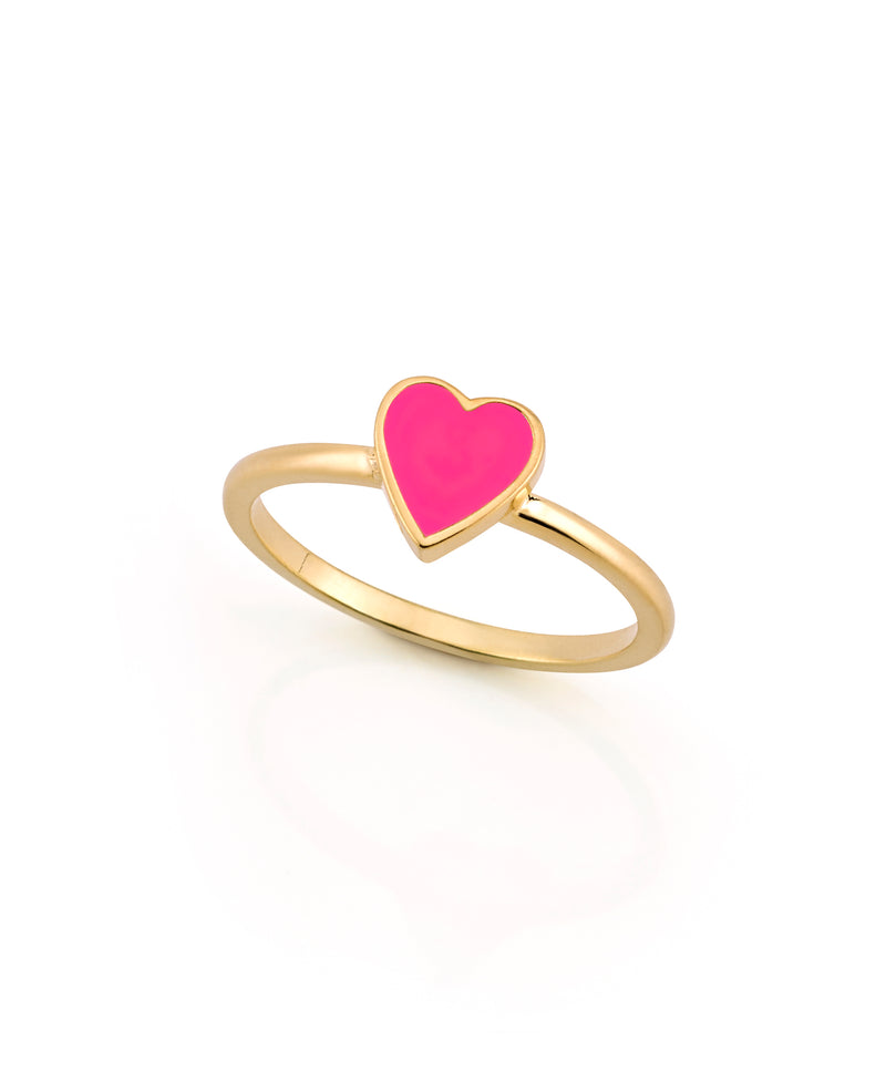 LOVE COUNT® ENAMEL STACKABLE RING-BUBBLEGUM PINK
