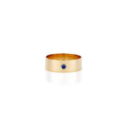 SLDA BIRTHSTONE CIGAR RING BAND