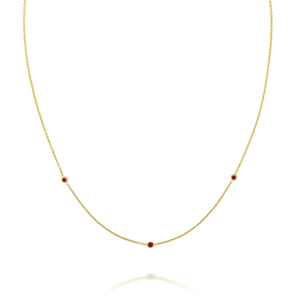 SLDA BIRTHSTONE TRIO NECKLACE