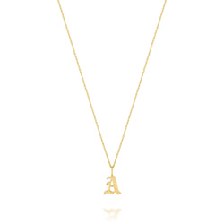 AMELIA GOTHIC INITIAL NECKLACE