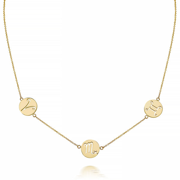 KYLA TRIO ZODIAC NECKLACE