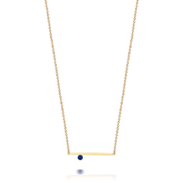 SLDA BIRTHSTONE BEZEL ACCENT NECKLACE