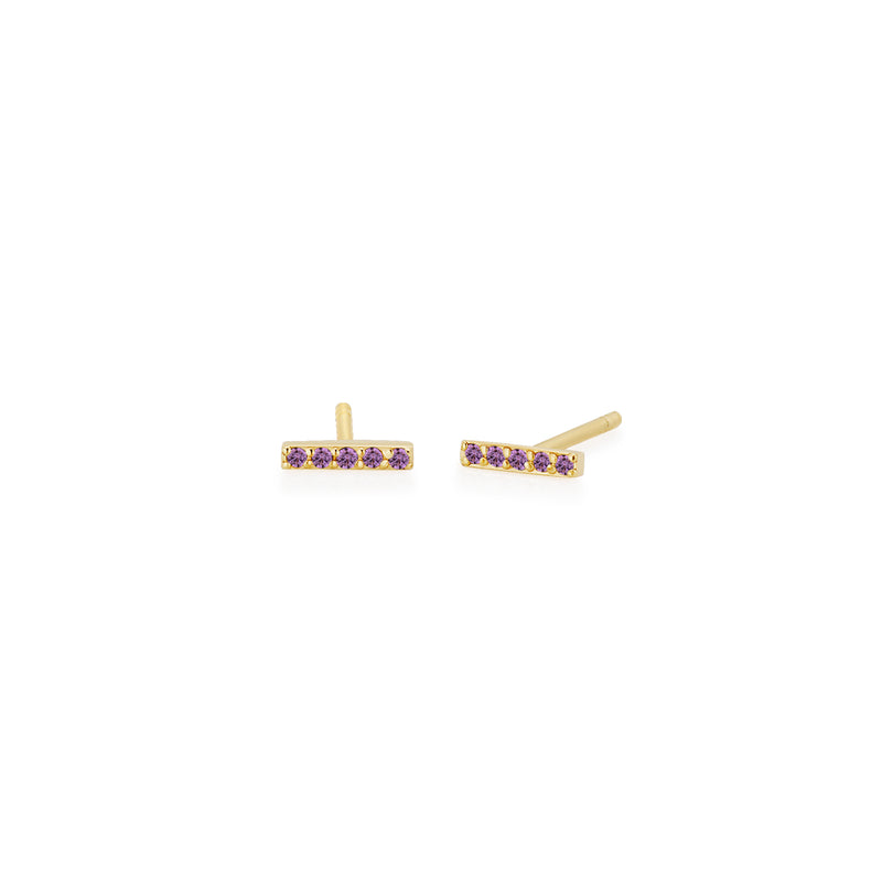 SLDA BIRTHSTONE BAR EARRING SINGLE