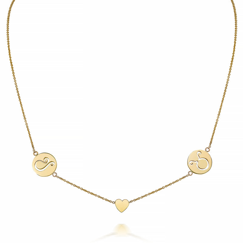 KYLA DUO ZODIAC NECKLACE