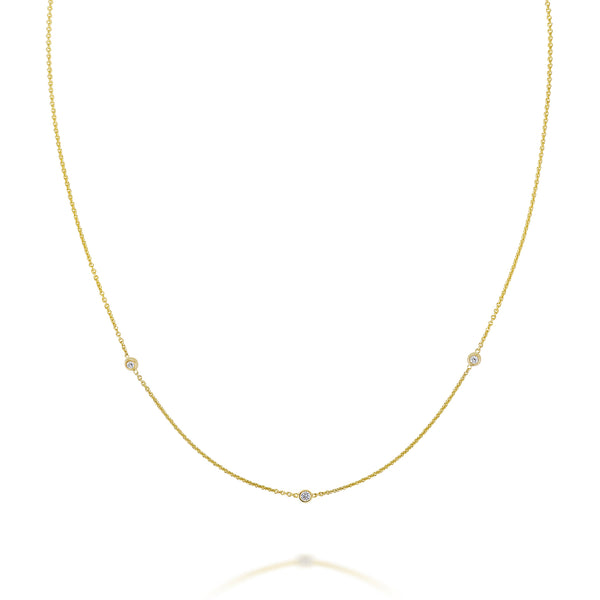 SLDA DIAMOND TRIO NECKLACE