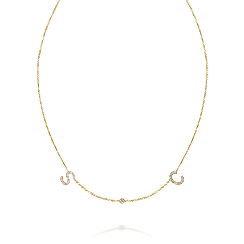AMELIA DIAMOND DUO NECKLACE