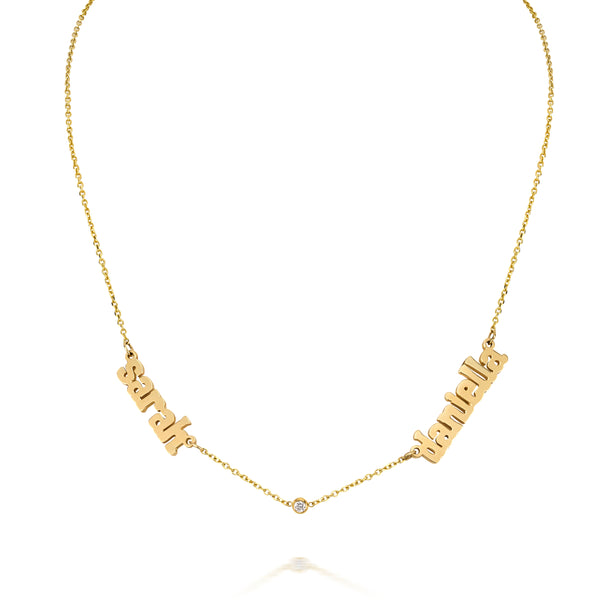 AVA DUO NAME NECKLACE WITH DIAMOND