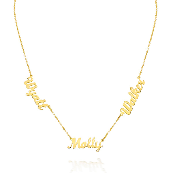 AVA MULTI DAINTY SCRIPT NAME NECKLACE