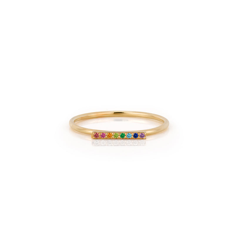 SLDA RAINBOW BAR RING