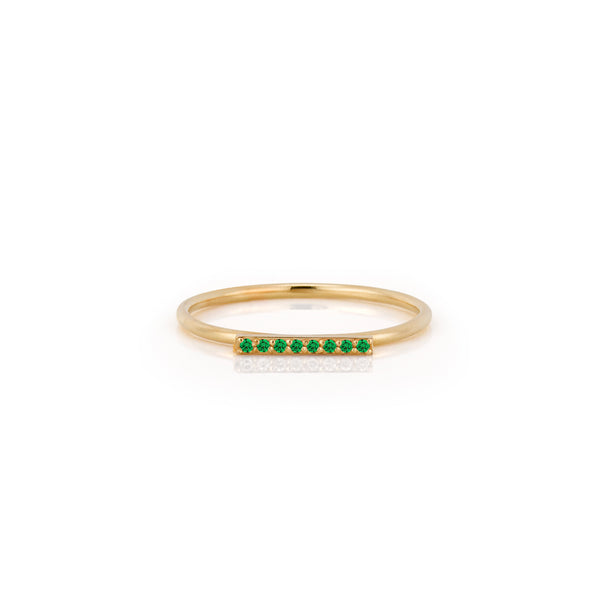 SLDA BIRTHSTONE PAVE BAR RING