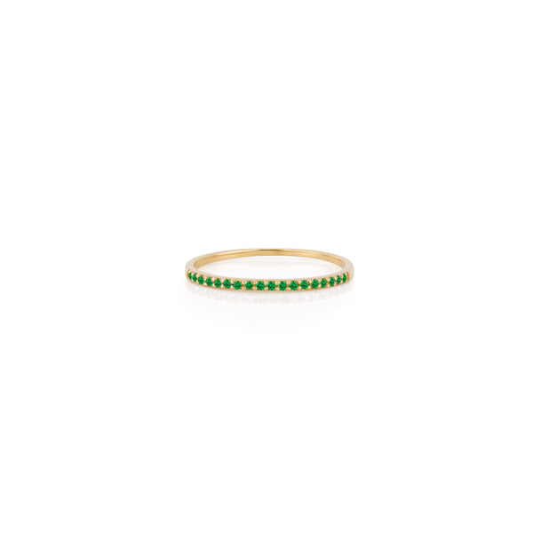 SLDA BIRTHSTONE STACKABLE PAVE RING BAND