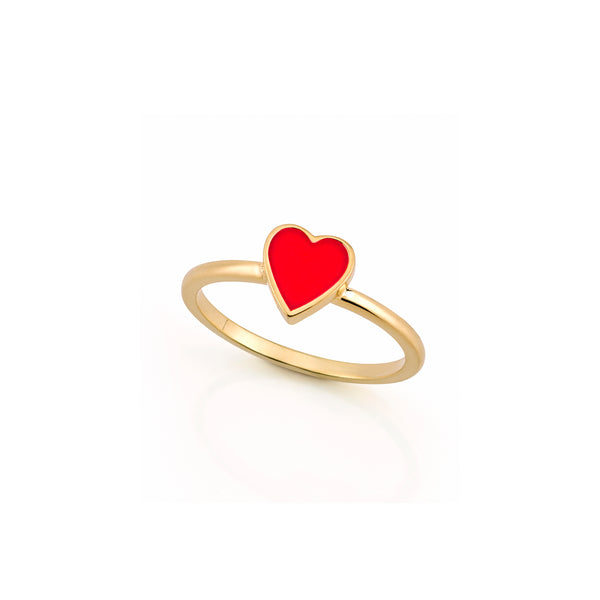 LOVE COUNT ® ENAMEL STACKABLE RING- RED