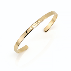 CIELA SKINNY BANGLE- CENTER DIAMOND ACCENT