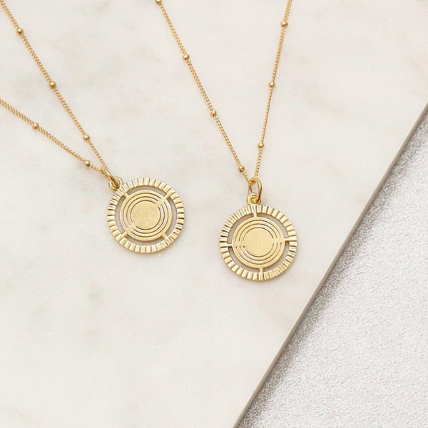 CREATIVE COLLECTIVE- ARIELLE VEY MEDALLION NECKLACE