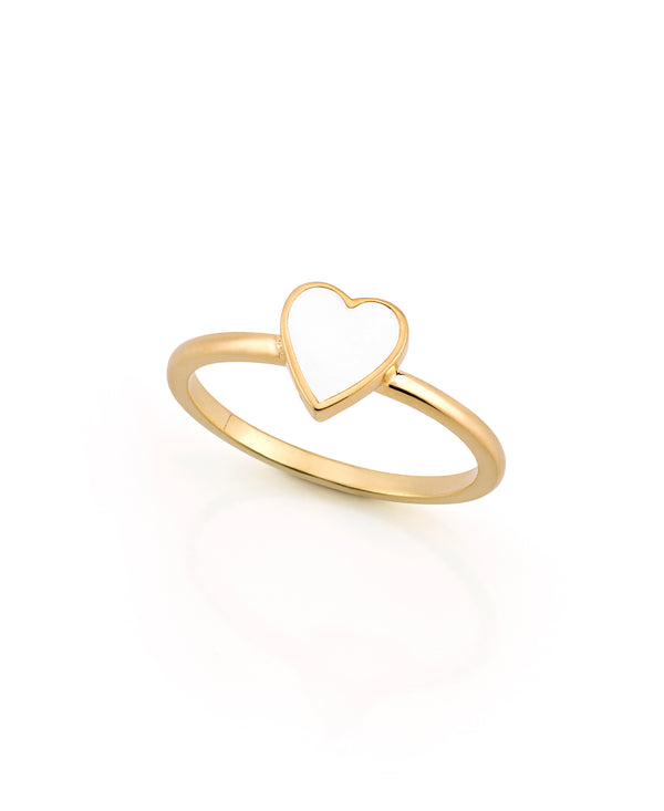 LOVE COUNT ® ENAMEL STACKABLE RING-WHITE