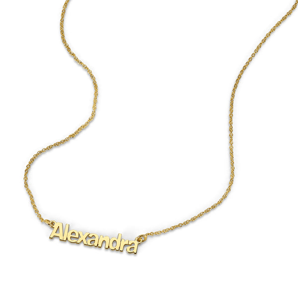 AVA MODERN DAINTY BLOCK NAME NECKLACE