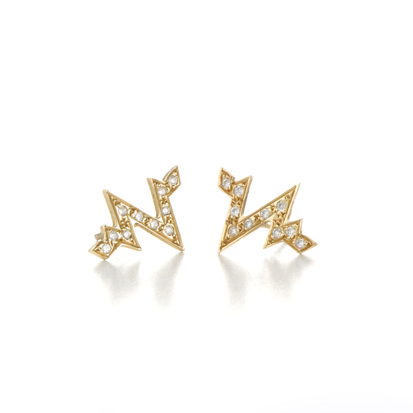 HEART.BEAT DIAMOND STUDS