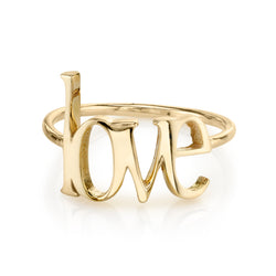 AVA BLOCK LOWERCASE LOVE RING