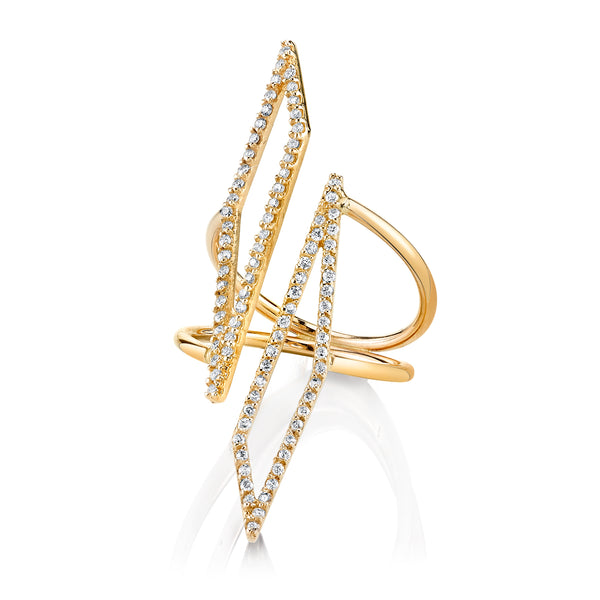 DIAMOND DOUBLE TAIA RING