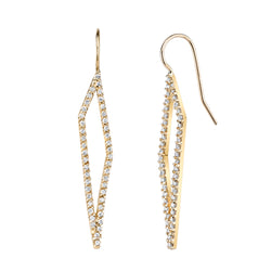 TAIA DIAMOND HANGING EARRINGS