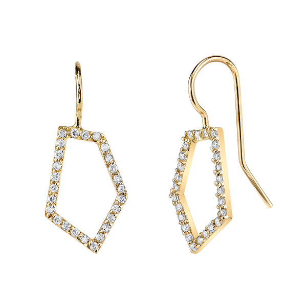 SHARDS v.02 DIAMOND FRENCH WIRE EARRINGS