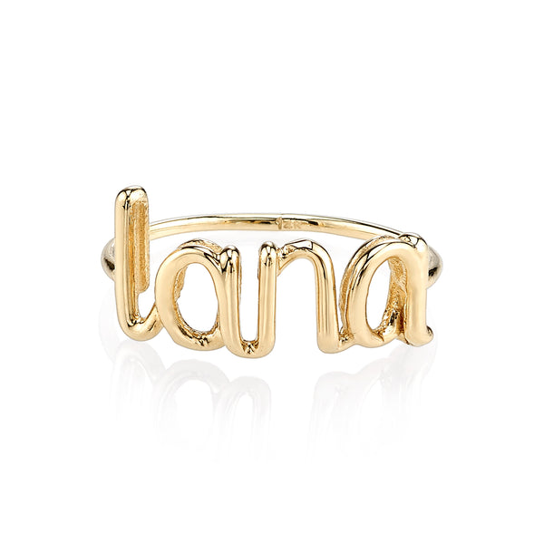 AVA WIRE CUSTOM NAME RING