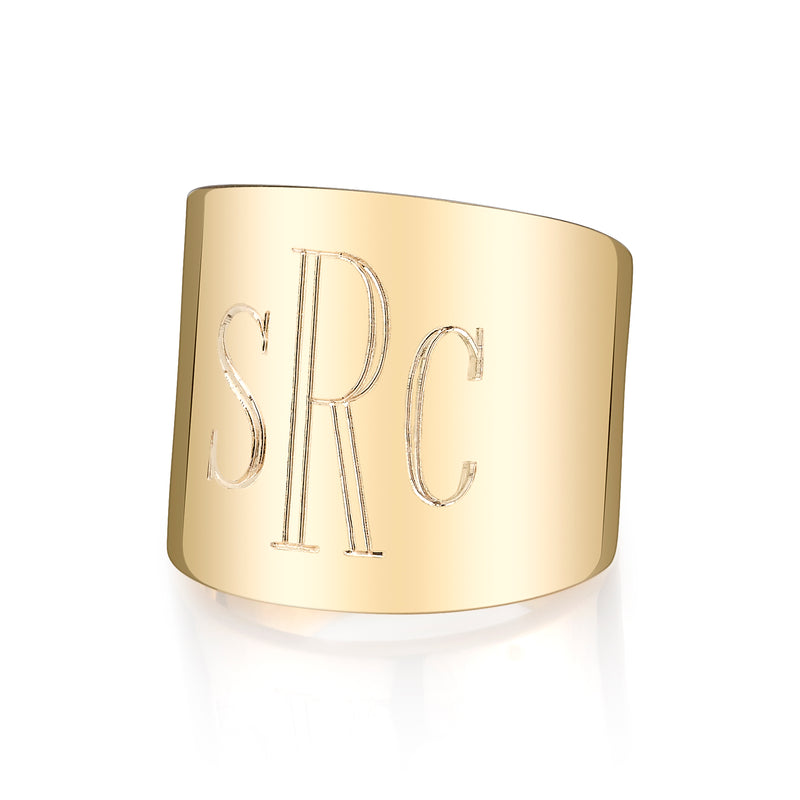 LANA CIGAR SIGNET RING