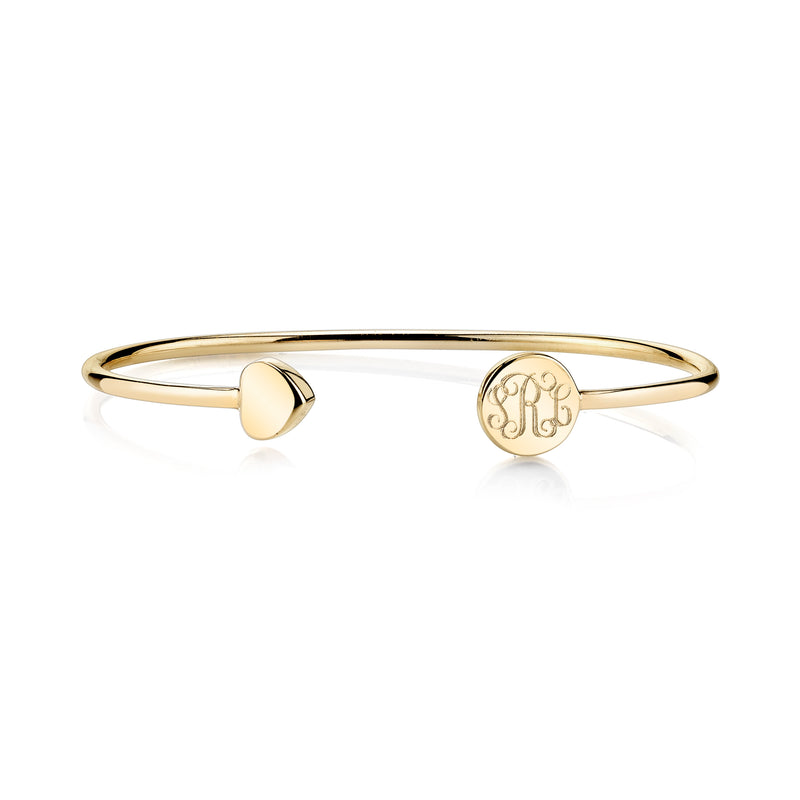 ELLE HEART-ROUND BANGLE
