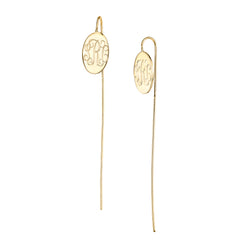 CARA OVAL WIRE EARRINGS