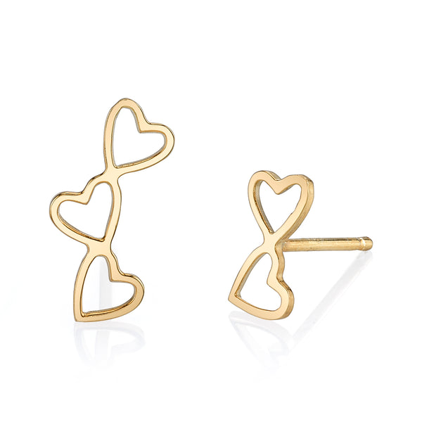 LOVE COUNT EARRING STUDS