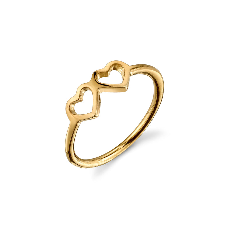 LOVE COUNT® STACKABLE RING - 2 HEARTS