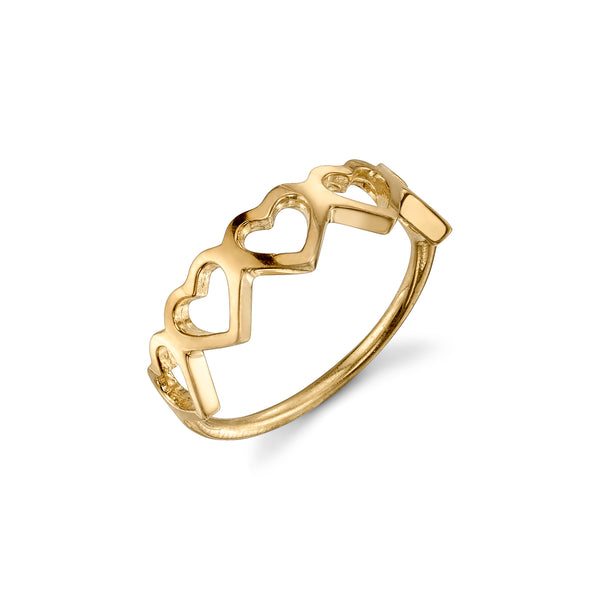 LOVE COUNT® STACKABLE RING - 5 HEARTS