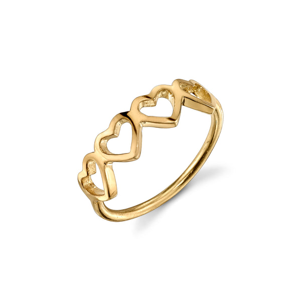 LOVE COUNT® STACKABLE RING - 4 HEARTS