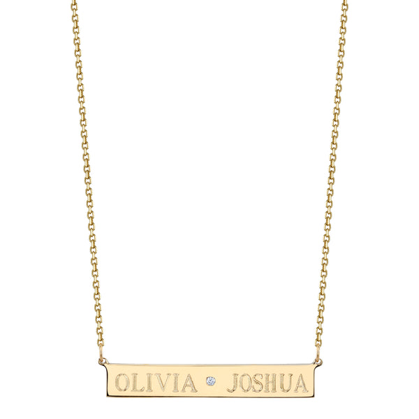 LEIGH ID CENTER DIAMOND NECKLACE