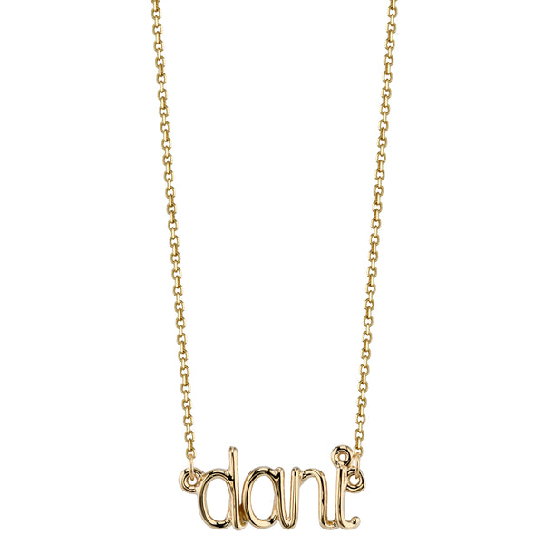 AVA WIRE NAME NECKLACE