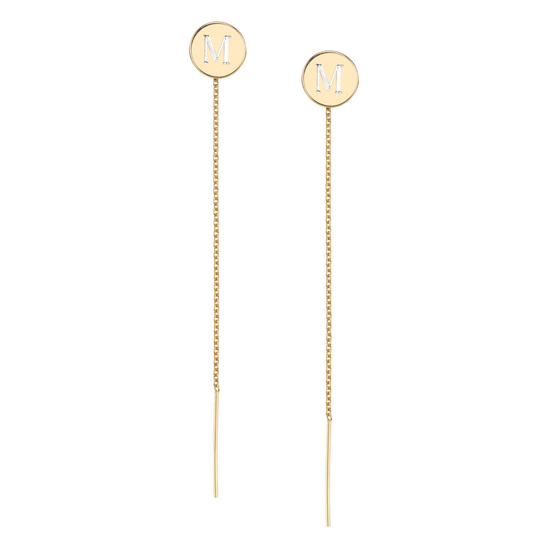 CARA ENGRAVED KARLA THREADED EARRINGS
